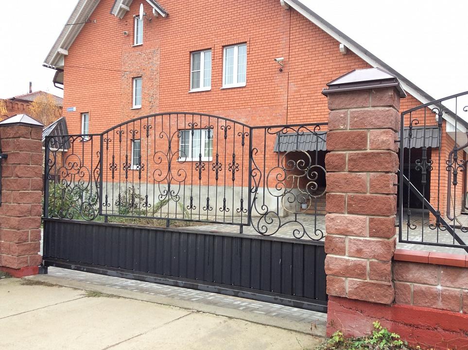 Ворота кованые откатные 4