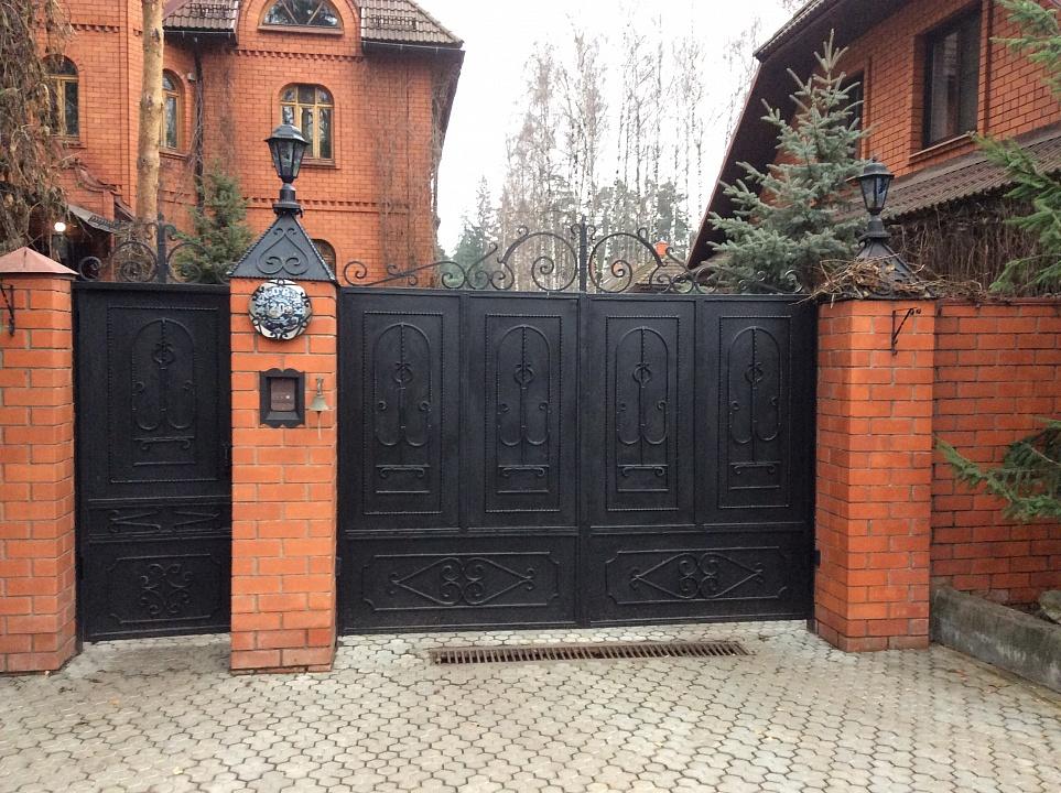 Ворота кованые откатные 3