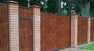Откатные ворота с деревянной обшивкойдер. Картмазово
