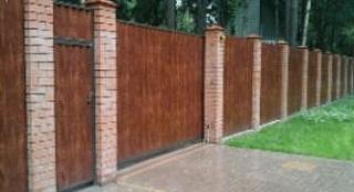 Забор с деревянной обшивкойдер. Картмазово